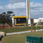 The scoreboard at the WACA ground, Perth