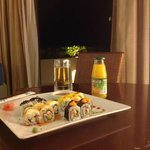Order some sushi and take it to your room and enjoy the warm ocean breeze.