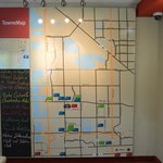 towne map in the lobby