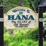 Welcome sign to Hana