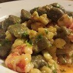 """Gnocchi di """"sinapa"""" broccolo e gamberi"""