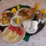 traditional Jamaican breakfast, room service style