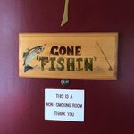 "Room 1 ""Gone Fishin"" room."