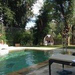 Giardino su piscina