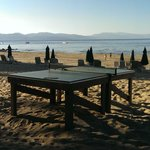 Ping pong on the beach - can you beat that?
