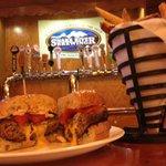 Stuffed American Cheese burger