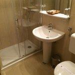 clean bathroom, great shower