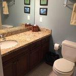 Bathroom with tub/shower.  Same on both floors