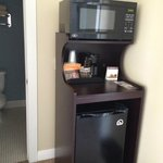 Upstairs microwave/fridge/coffee area