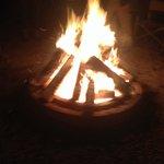 Enjoying a fire
