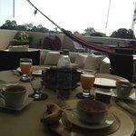 Breakfast on the rooftop terrace