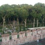 Beautiful view into Topkapi Palace Gardens