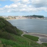 Looking back to Scarborough from South Cliff