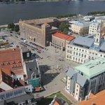Vistas de Riga desde la torre de la Iglesia de San Pedro