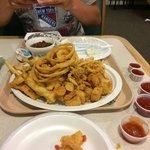 Our HUGE seafood platter