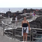 natural salt pools on sea front
