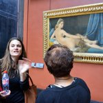 Our Discover Walks tour guide at the Louvre