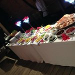 BBQ spread for our welcome party