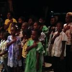 Pikinini Choir singing at our welcome party