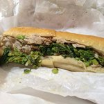 Roast Pork w/ brocoli rabe and provolone