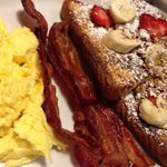 One of the specials of the day! Fruity French toast combo.