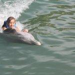 upside-down dolphin swim