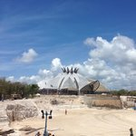Construction of the theater/resaurant