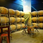 Barrels in the tasting room