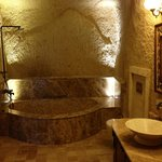 real cave bathroom!