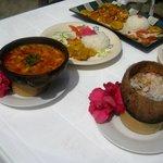 Varias especialidades gastronómicas de Wipeout  Cabaña