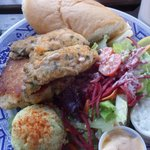 Crab Cake / Oyster plate at the Crow & gate English Pub