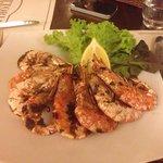 Second course - bbq large shrimp