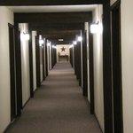 Long straight halls felt dated