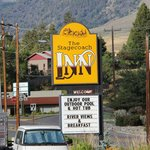 The Inn is located at the corner of Main Street and highway 93