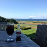 Sea and Ailsa Craig from the lounge patio
