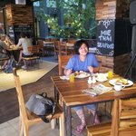 Restaurant area during breakfast