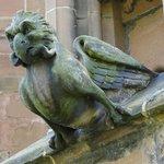 Gargoyle with prey