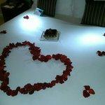 Aankomst voor onze honeymoon. Hoe romantisch!