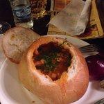 Zuppa di fagioli e carne