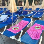 ooh a few more reserved sunbeds