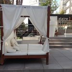 Cabanas to relax on