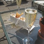 Champagne and Canapes on arrival.