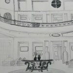 Artistic View of Spacious Lobby - Sketched by My Wife :)