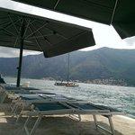 Sun loungers on the pier