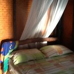 bed inside bungalow 1