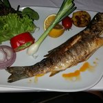 Meal in fish restaurant