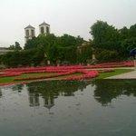 Pioggia sui giardini a Salisburgo