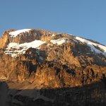Coucher de soleil sur le Kili