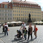 Clean and pretty Neumarkt in Dresden