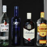large selection spirits, Gin, several Whiskey's, Rum, Vodka and more